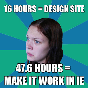 Design in IE Meme