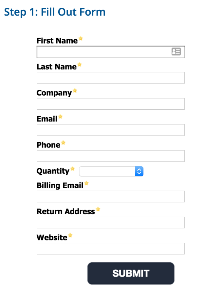 Pardot Ordering Form